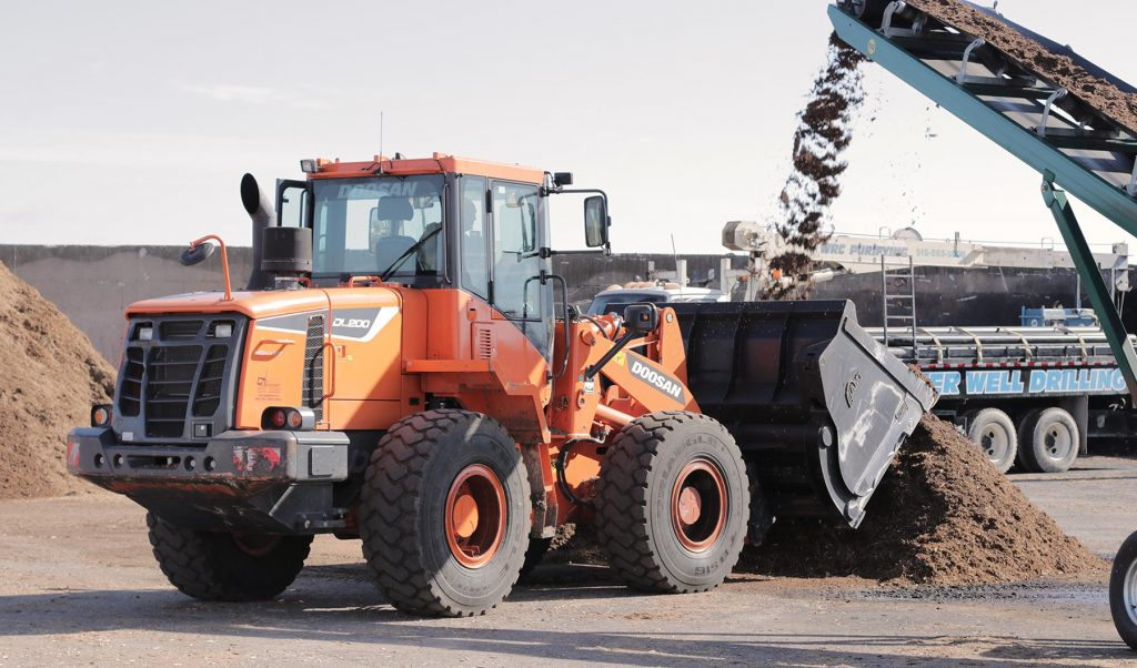 Loader with Mulch